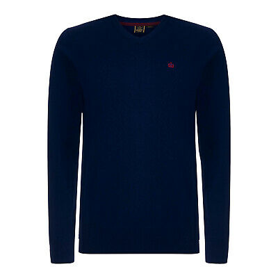 £24.99 • Buy Merc London Corby Men's Navy Cotton And Cashmere Crew Neck Jumper UK S RRP £65