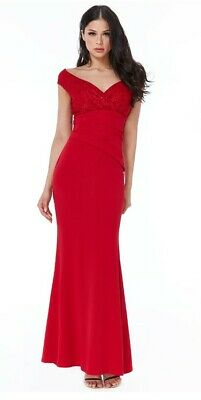 £25 • Buy **NEW** GODDIVA Red Formal Evening/Prom/Party/Ball Dress Size 8 **RRP £95**