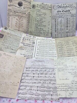 £3.45 • Buy 30 Sheets Vintage Music, Letter, , Invoice, Papers, Junk Journal, Scrapbook