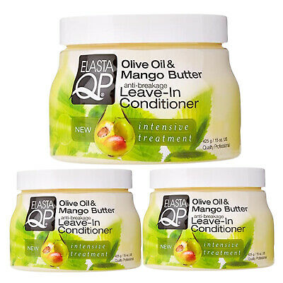 £14.49 • Buy 3X Elasta QP Olive Oil & Mango Butter Anti Breakage Leave In Conditioner 425 G