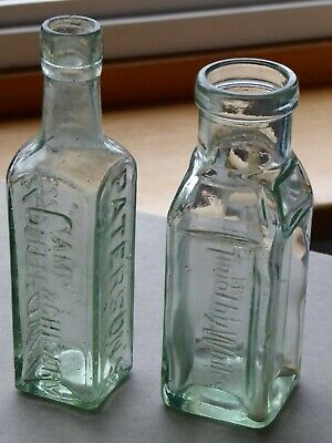 £10 • Buy Antique Vintage Glass Bottles Camp Coffee Patterson's Glasgow And Timothy Whites