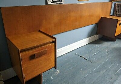 £250 • Buy White And Newton Headboard And Bedside Tables - Mid Century Retro Free Delivery