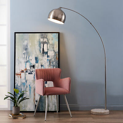 £103.99 • Buy Versanora Arquer Arc Floor Lamp Marble Base Nickle Finished Shade VN-L00010BN-UK