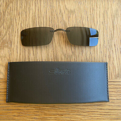 £40 • Buy Silhouette SPX ART Clip On Sunglasses 7509 S Grey With Case