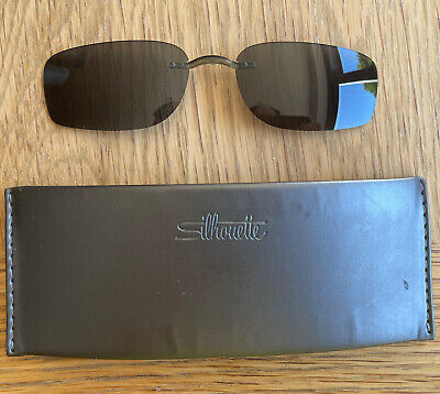 £40 • Buy Silhouette SPX ART Clip On Sunglasses 7684 S Grey With Case