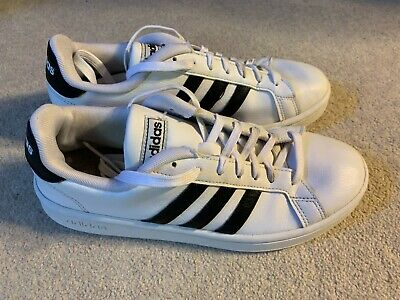 AU23.18 • Buy Adidas Grand Court Ladies Trainers In White/black - Size 6.5
