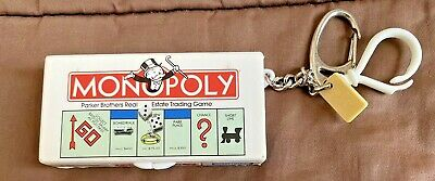 $14.01 • Buy Vtg Miniature Monopoly Board Game Keychain Incl Dice & Tolkens 1998 Hasbro