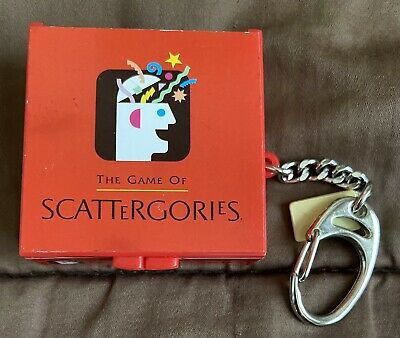 $15.19 • Buy  Mini Scattergories Board Game Keychain Incl Pencils Dice More 2002 Hasbro