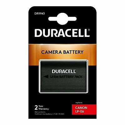 £24.98 • Buy Duracell DR9943 Replacement Digital Camera Battery For Canon LP-E6 Battery