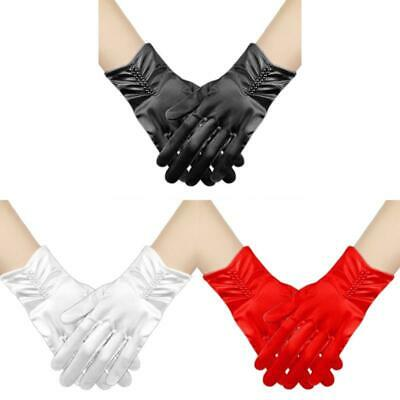£3.20 • Buy Short Opera Party Gloves 1920s Flapper Satin Stretchy Wrist Gloves For Prom