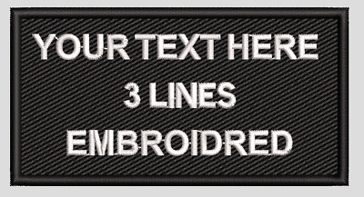 £4.99 • Buy PERSONALISED Name Patch, Club, Team, Airsoft, Paintball, Work Ware, Biker