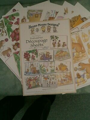 £7 • Buy 10  House Mouse  Decoupage Sheets By Joanna Sheen