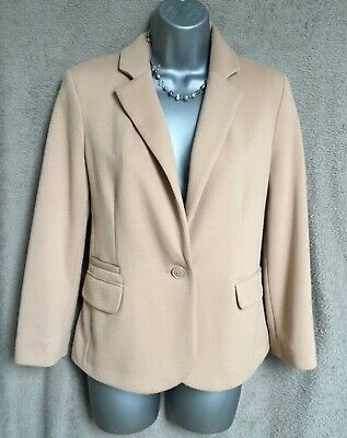 £8.90 • Buy New Look Camel Fitted Lined Three Quarter Sleeve Jacket Size 12