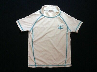 £3 • Buy Swimming Shirt Surf Camp Beach Sun Protection Top Childs Size White / Blue Trim
