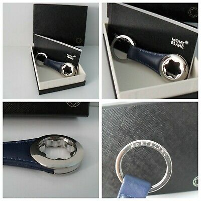 £87.46 • Buy Montblanc Keyring Leather & Stainless Steel Montblanc Snow Cap - Blue - NEW