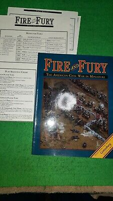 AU9.25 • Buy Fire And Fury ACW Miniatures Rules With Player Ref Sheet