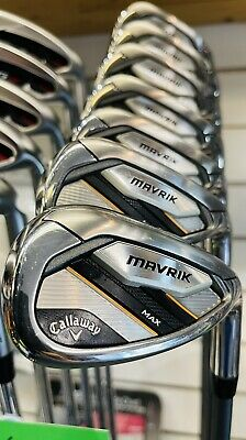 AU1278.13 • Buy Callaway Mavrik Max Irons 5-sw Golf Clubs Graphite Shafts Immaculate- 24hr Deliv