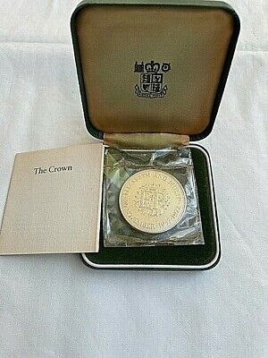 £1.20 • Buy 1972 UK .925 Sterling Silver Proof Crown Coin Silver Wedding Anniversary Cased