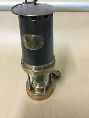£45 • Buy PATTERSON TYPE A3 MINERS LAMP With Pad Lock NO KEY