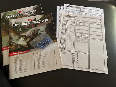 AU13 • Buy Dungeons & Dragons (D&D)Starter Set.  Dice Never Used **SALE** Clear Out