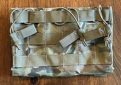 £17.99 • Buy TACTICAL TAILOR MULTICAM WEBBING TRIPLE 5.56mm MOLLE MAG PANEL - AMMO POUCH Gd.1