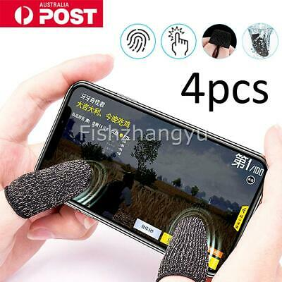 AU7.95 • Buy 4PC Finger Sleeve Touch Screen Non-slip Thumb Breathable Sleeve For Mobile Game