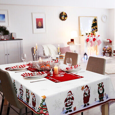 AU19.99 • Buy 2Color New Year Christmas Tablecloth Kitchen Dining Table Decoration Table Cover