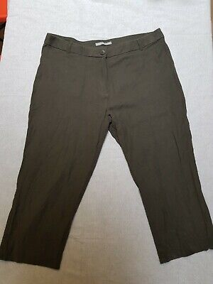 £1.50 • Buy Ladies Marks And Spencer Size 16 Capri Trousers Peat Colour