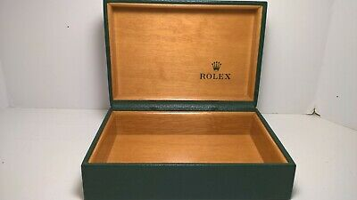 £27.51 • Buy Vintage Rolex Datejust 68.00.055 Green Padded Wooden Watch Display Box