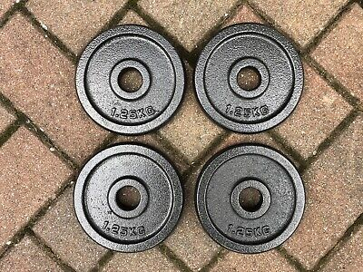 """£17.95 • Buy 1.25kg X 4 Cast Iron Weights Brand New Pro Fitness 1""""hole Not York Pro Power Gym"""