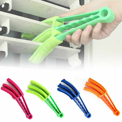 AU10.38 • Buy 2 Clamp Window Air Conditioner Venetian Blind Brush Duster Dirt Cleaner Remover