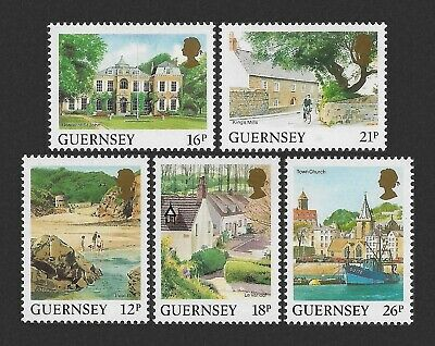 £1.50 • Buy Guernsey 1984-1991 Bailiwick Views Definitive Issue 5 Values MNH UM Unmounted