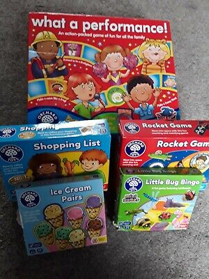 £13.50 • Buy Orchard Toys Bundle- What A Performance,rocket Game,shopping List And More