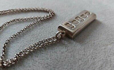 £43 • Buy 40gram Solid Sterling Silver Ingot Pendant And 24 Inch Chain