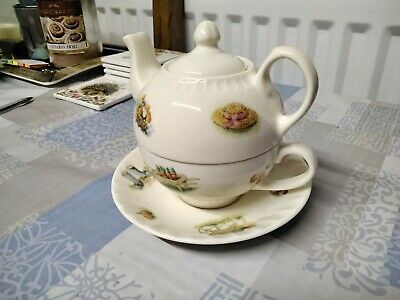 £14 • Buy Aynsley Edwardian Kitchen Garden Tea For One Teapot, Cup And Saucer. UNUSED