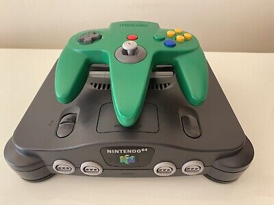 AU101.15 • Buy Nintendo 64 N64 Console With Green Controller - PAL CLEANED & TESTED