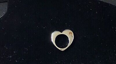 £18 • Buy Silver Tone Flat Heart Ring - Marc By Marc Jacobs - Size 58