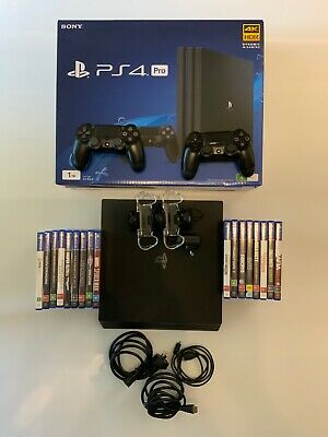 AU357.74 • Buy PS4 Pro Console 1TB CUH-7102B, Extra Controller, Charging Station And 17 Games