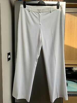 £3.20 • Buy Ladies White Straight Leg Trousers Size 20 From M&S