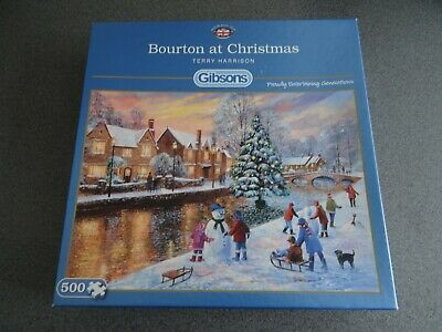 £9.99 • Buy Gibsons: Bourton At Christmas By Terry Harrison 500 Piece Jigsaw (G3088)