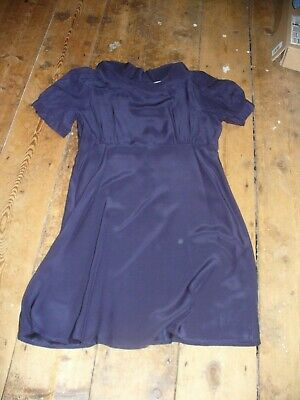 £12.99 • Buy Topshop Navy Silk Mini Dress, Open Back, Going Out - UK 12 Lovely Condition