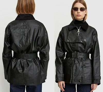 AU507.40 • Buy BARBOUR By Alexa Chung  Agatha Waxed Cotton Jacket In Black US 6-8 / UK 10  $780