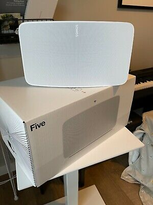 AU551.71 • Buy Sonos Five Speaker - White - WiFi + 3.5mm Line-in - Mint Condition With Box