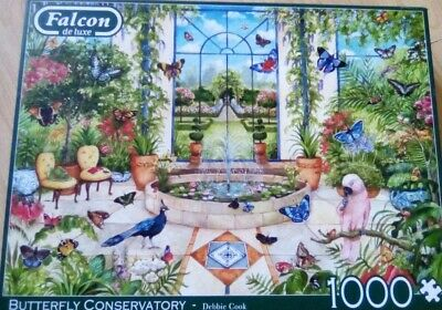£2 • Buy 1000 PIECE JIGSAW PUZZLE BY FALCON Called Butterfly Conservatory COMPLETE