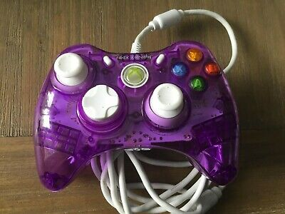 AU35 • Buy Purple And White Transparent Wired Rock Candy Xbox 360 Controller - CHEAPEST BIN