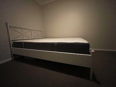 AU50 • Buy Ikea Double White Bed Frame With Mattress