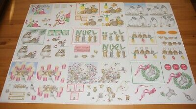 £10 • Buy Joanna Sheen House Mouse. Traditional Decoupage - 20 Assorted Xmas A4 Sheets