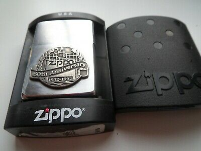 £12 • Buy VINTAGE BOXED ZIPPO 60th I VIII 1992 WORKS GREAT MATCHING YEAR INNER/OUTER CASE