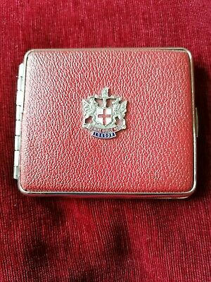 £5 • Buy Small Red Cigarette Case  With London Crest