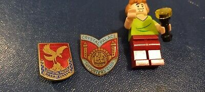 £3.20 • Buy Vintage 2 X Crystal Palace Football Club Enamel Pin Badges Supporters